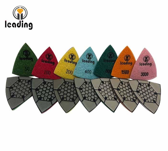 Triangular Dry Polishing Pads KNQ