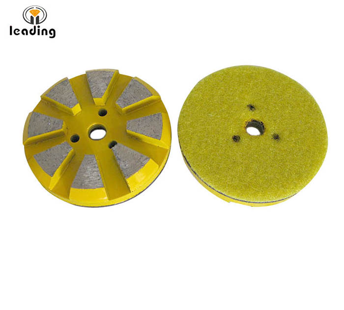 3xM6 holes Diamond Grinding Puck with or non velcro backing